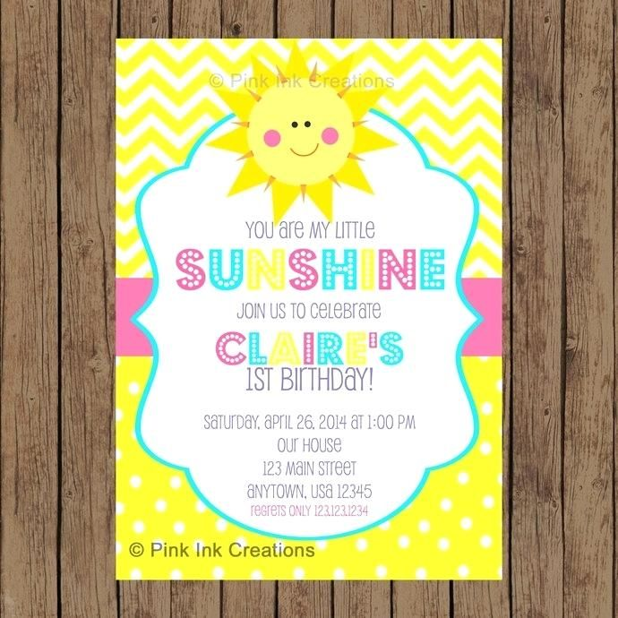 Image Result For You Are My Sunshine 1 Years Old Party Sunshine Birthday Parties Sunshine Birthday Birthday Invitations