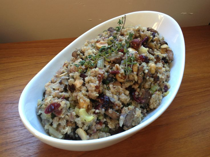 Earnest Eats Cranberry, Hazelnut & Mushroom Stuffing | Stuffing with Quinoa, Farro and Shallots - so yummy for these upcoming foodie Holidays! Jump over to our blog for the recipe.