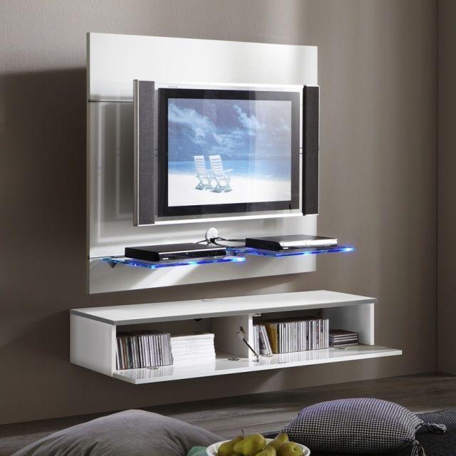 Les 25 meilleures id es de la cat gorie meuble tv suspendu sur pinterest tv suspendu meuble for Meuble qui cache la tv