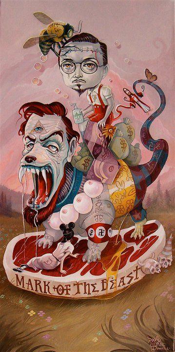 Mark Ryden - Self Portrait / Pretty Intense, a lot of heavy symbolism