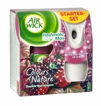 Air Wick Freshmatic Max Complete Purple Berry Air Wick Freshmatic puts you in control ensuring your home always smells fresh & welcoming. Simply set the intensity control to match the needs of your home and Air Wick Freshmatic will automatically release bursts of fresh fragrance Contains foreign text