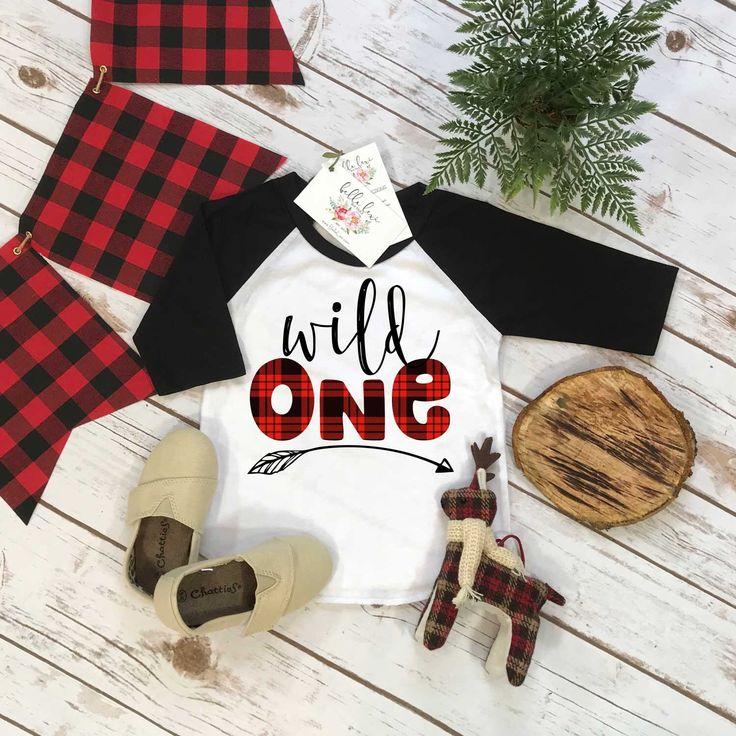 First Birthday Shirt, Lumberjack Birthday, 1st Birthday shirt, Buffalo Plaid Party, Lumberjack Party, WILD ONE PLAID,Wild One Birthday shirt by BellaLexiBoutique on Etsy https://www.etsy.com/listing/583774459/first-birthday-shirt-lumberjack-birthday