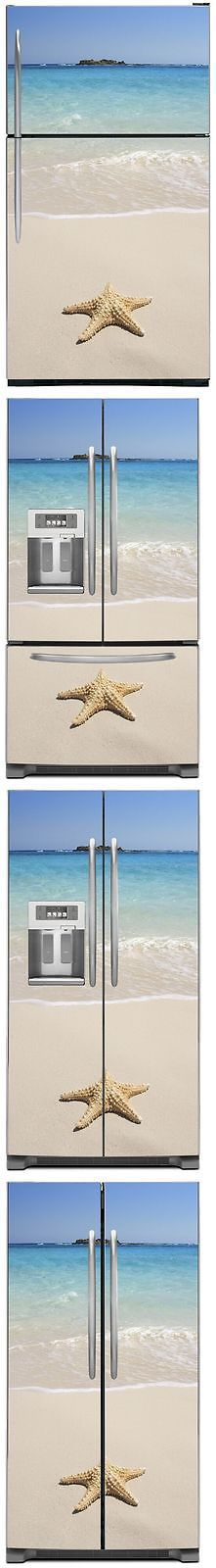 Refrigerator Magnets 20644: Starfish On Beach - Magnet Refrigerator Skin - Instant To Apply-On Sale Now! -> BUY IT NOW ONLY: $98.95 on eBay!