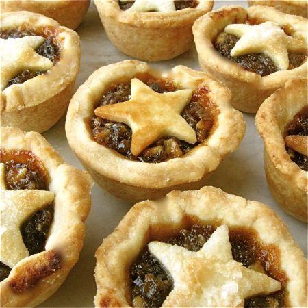 English Christmas Mincemeat Star Tarts