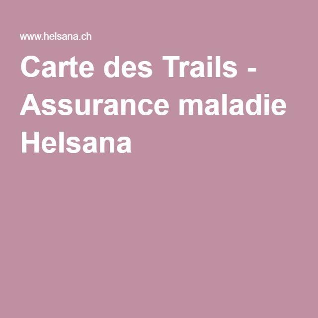 Carte des Trails - Assurance maladie Helsana