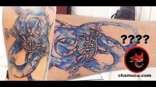 COMO Tatuar efecto ACUARELA ? - Chamuca Tattoo - DRAGON ACUARELA - YouTube