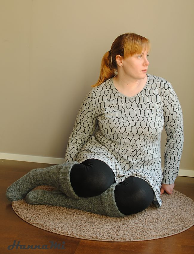 Tunika ompelu. Sewing tunic.Kaava/Pattern Ottobre Woman 5/2015 1.Twig Kangas/Fabric MiszkoMaszko Suomut trikoo Käpyseltä