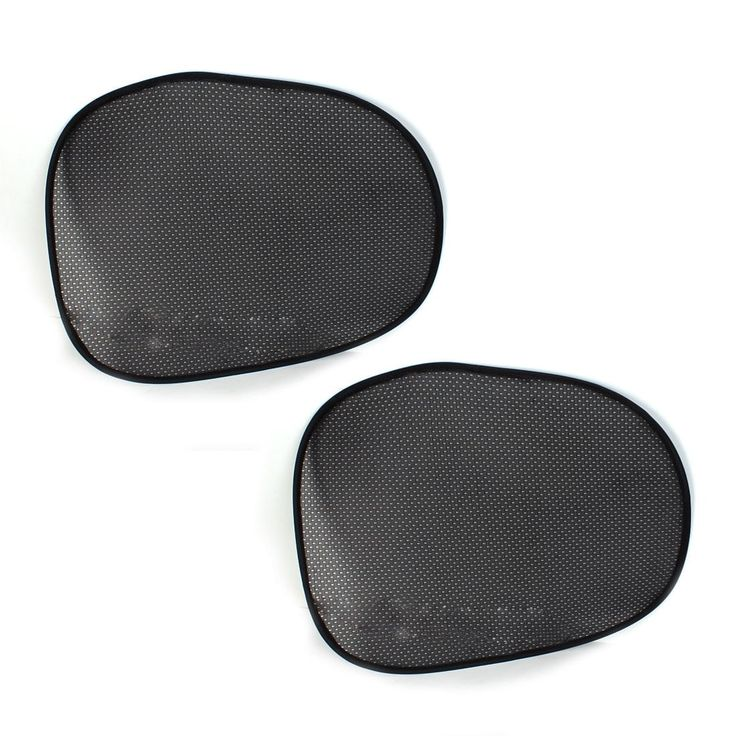 "2Pcs 21.2"" x 17"" Meshy Collapsible Car Side Window Sun Shade UV Protection Black for Baby"