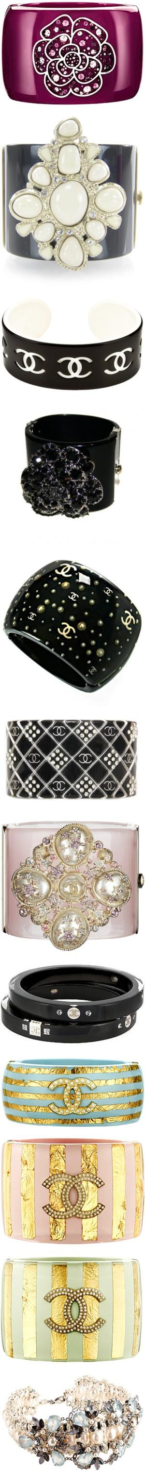 """Chanel Bracelets  Cuffs"" by shazgoldcoast ❤ liked on Polyvore"