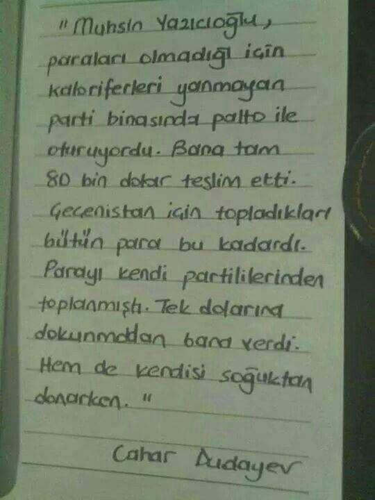 Şehit Lider Muhsin Yazıcıoğlu.. Allah cennetinde muhafaza eylesin seni..