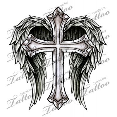 cool cross drawings with wings - Google Search
