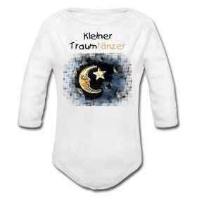 Schlafenszeit für kleine Traumtänzer. Langarmbody mit Motiv: dreamland squares von hsalpha. #Babymode #Baby #Babybekleidung #hip