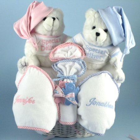 27 best twins and multiples baby gifts images on pinterest twin beary special twins baby gift basket negle Image collections