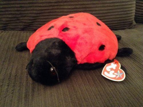 "TY Ladybug Plush Beanie Buddy toy LUCKY stuffed animal 1999 MWMT 11"" MWT"