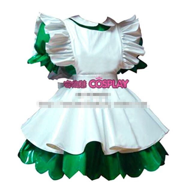 Hot Sale Custom Made Lockable PVC Sissy Maid Green Dress Uniform Cosplay Costume #Sissy maids http://www.ku-ki-shop.com/shop/sissy-maids/hot-sale-custom-made-lockable-pvc-sissy-maid-green-dress-uniform-cosplay-costume/