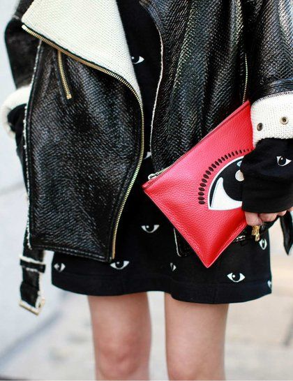 LFW Street Style | ELLE UK | Clutch Please | Click this pin for more details.