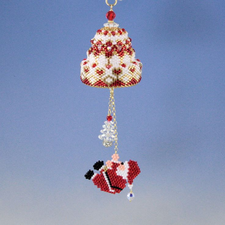 Christmas hanging santa claus bell by Happyland87 on Etsy
