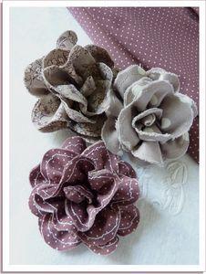Fleurs en tissus ♥ #epinglercpartager