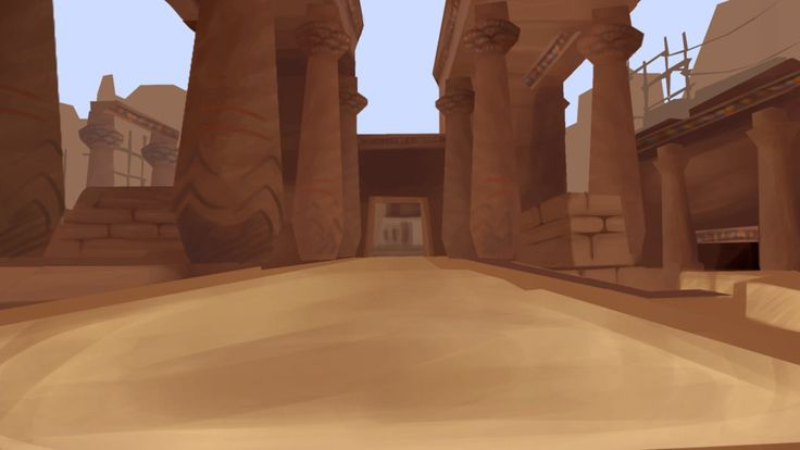 Art Temple of anubis - background to animation digital 1280x720