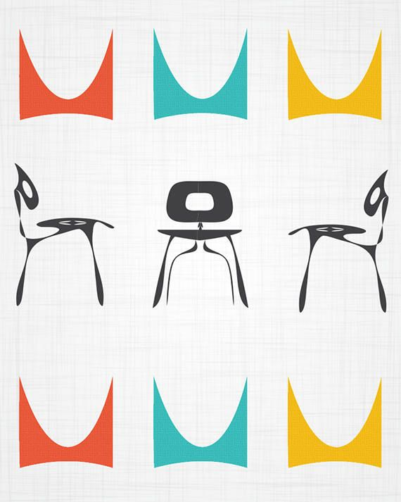 Herman Miller / Eames Inspired Midcentury Modern Style ...