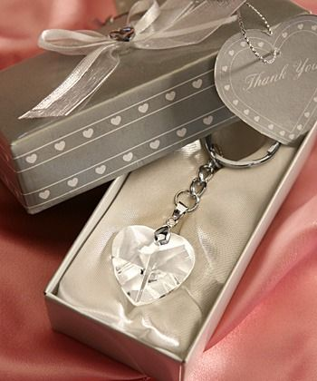 Chrome Key Chain with Crystal Heart http://www.aussieweddingshop.com.au/Product/185/chrome-key-chain-with-crystal-heart