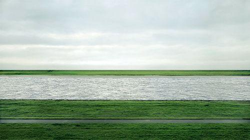 Andreas Gursky, Rhein II, 1999, C-print mounted to plexiglass in artist's frame, 81 x 140 inches
