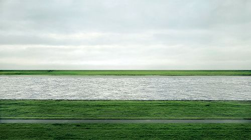 Rhein II. Photo by German artist Andreas Gursky. Sold for $4.3 million. Most expensive photograph ever sold. (Ridiculous!... and it's Photoshopped!)
