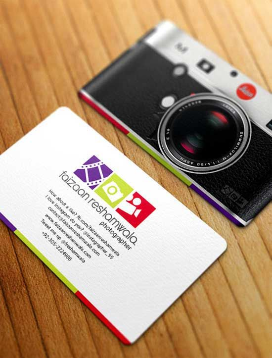Camera Shaped Business Card For Photographer