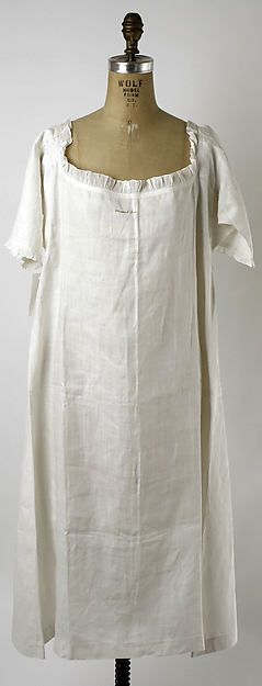 Date: ca. 1780 Culture: American Medium: linen, cotton Dimensions: Length at CB: 42 in. (106.7 cm) MMOA
