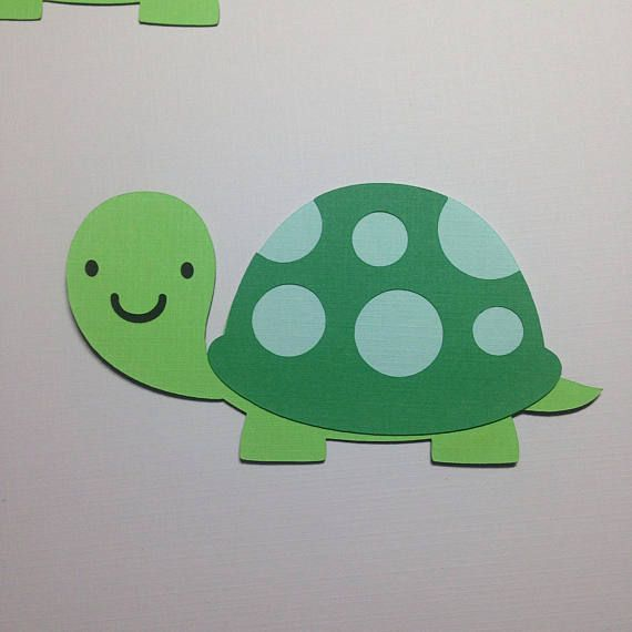 Turtle Die Cuts ~ Paper Turtle Cut Outs, Pond Friends Baby Shower, Friendly Pond First Birthday Party, DIY Party Supplies, DIY Centerpiece