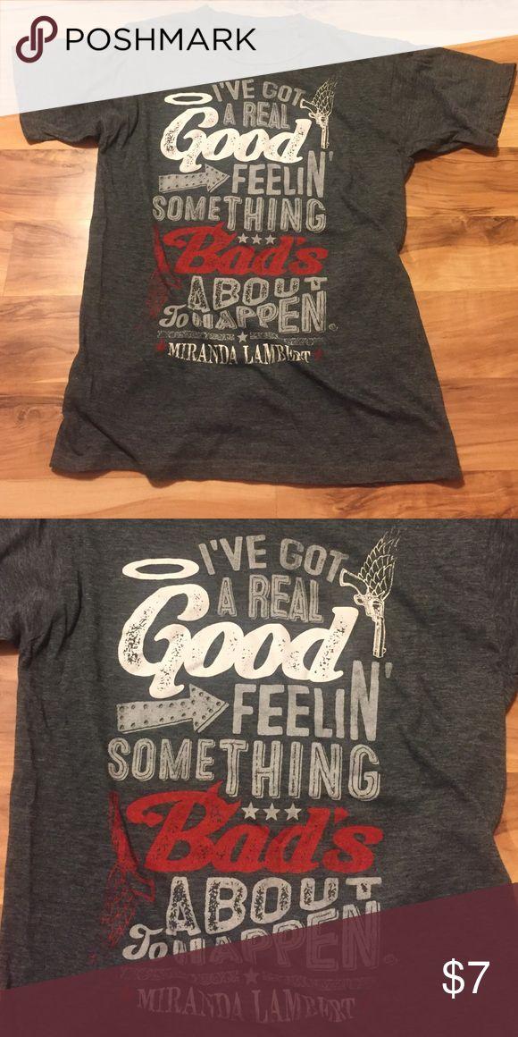 Miranda Lambert Tee Miranda Lambert T-shirt. Like new. Smoke free Pet free home. No stains, no snags. Tops Tees - Short Sleeve