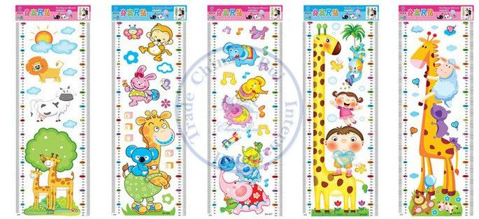 Minimum Order is $10 Kids cartoon wall stickers Growth Height chart ruler Measure grow up with me Decor Decoration  CN post $1.94