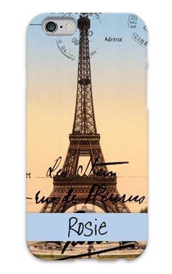 Postcard from Paris custom cell phone case