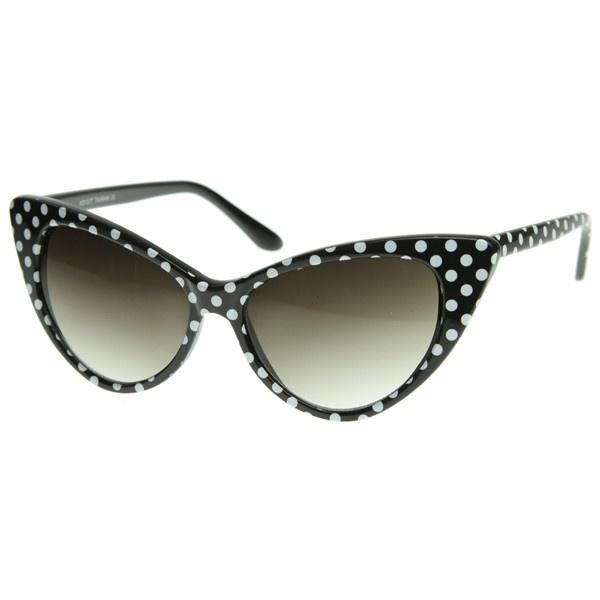 Emblem Eyewear - Lunettes De Soleil Polka Dot Cat Eye Womens Fashion Mod Super Cat (Noir) 0TfWr