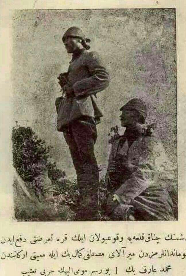 Çanakkale'de vukuu bulan ilk düşman harekatını püskürten komutanlardan Miralay Mustafa Kemal Paşa (Ata'mm)#CanakkaleGecilmez