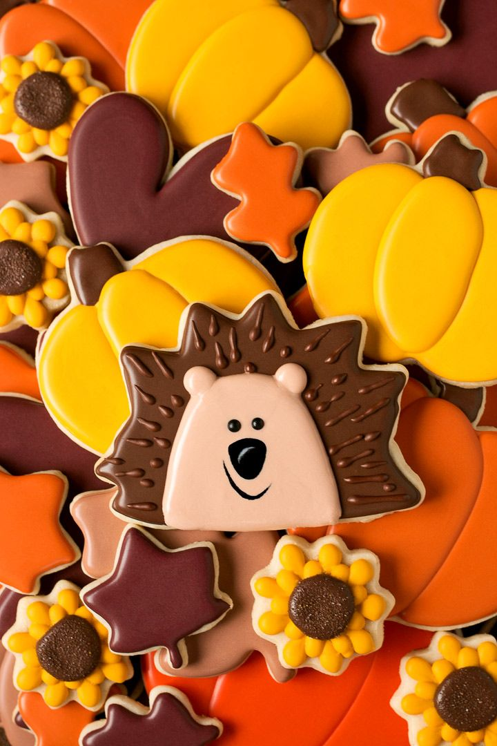 How to Make Hedgehog Cookies with a Sunflower Cookie Cutter - With a How to Video | The Bearfoot Baker