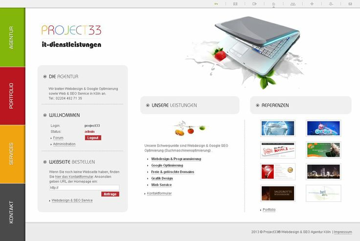 Webseite Project33. Google & Yandex SEO Optimierung, Webdesign und Web Programmierung.