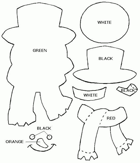 Felt Christmas pattern: Frosty the Snowman