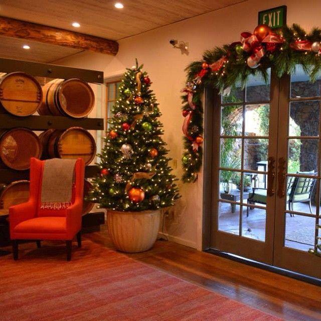 """#winter #garland #red #green #Christmas #Christmastree #entry #winery #décoration #decoration #architecturedintérieur #instadesigner #interiordesign #designer #vignoble #Noël #sapin #guirlande #Hiver #rouge #vert #gold #doré #argenté #silver  #tonneau #barrel #wingchair #rustic #rustique"" Photo taken by @aurelianeangel on Instagram, pinned via the InstaPin iOS App! http://www.instapinapp.com (01/14/2015)"