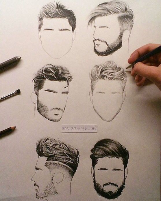 How To Draw Mens Hair