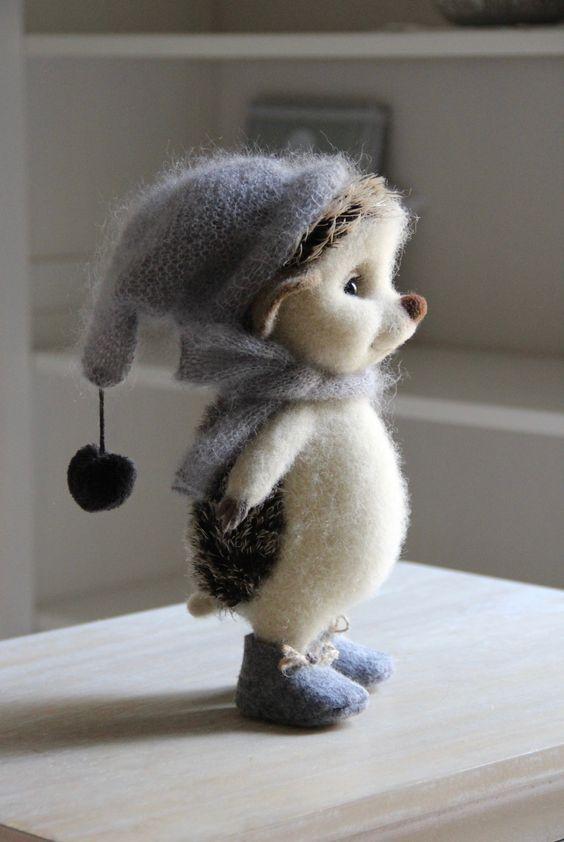 Hedgehog felt toy