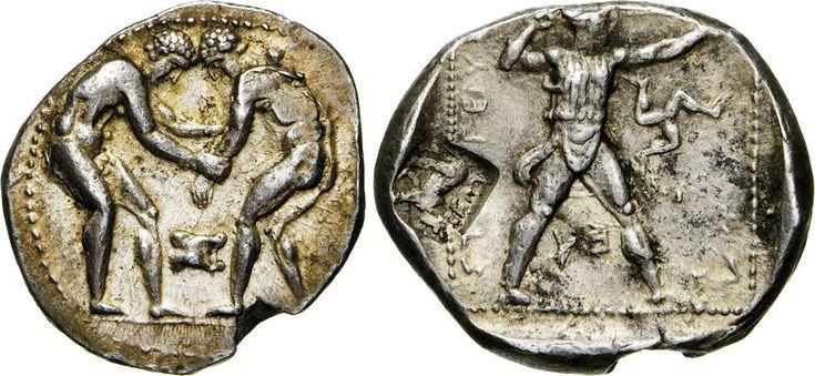NumisBids: Numismatica Varesi s.a.s. Auction 65, Lot 36 : PAMPHYLIA - ASPENDOS - (380-375 e 330-325 a.C.) Statere. D/ Due...