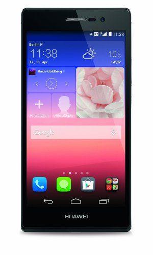 Huawei Ascend P7 Smartphone (12,7 cm (5 Zoll) LCD-Display, 13 Megapxiel Kamera, 16 GB Interner Speicher, Android 4.4.2) schwarz