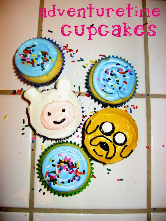 Adventure Time! Cupcakes. I know two girls that would love these. ;)