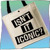 Isn't it Iconic..don't you think?   This radtastic tote is 100% cotton canvas, and made in Australia.  ilovelenko.com