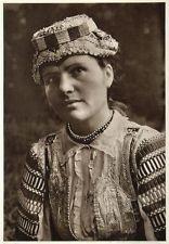 1953 Slovakian Woman Girl Costume Kroje Zdiar Slovakia - ORIGINAL PHOTOGRAVURE