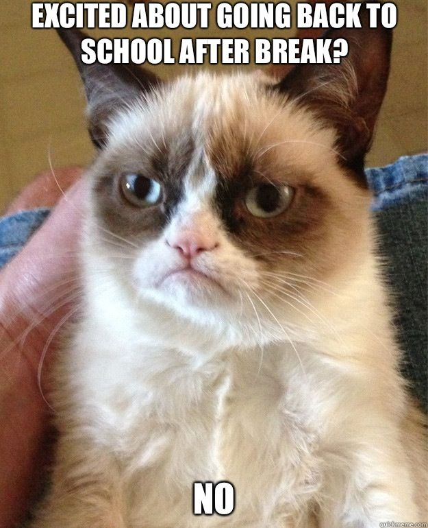 25 Thoughts You Have When Returning To School After Break
