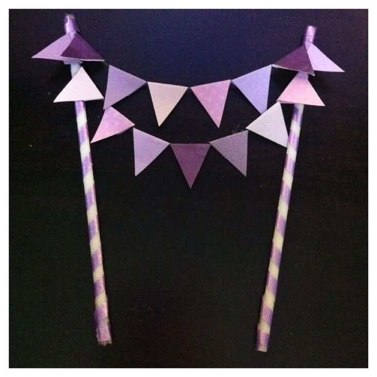 Bunting cake topper by me (LeanneR)