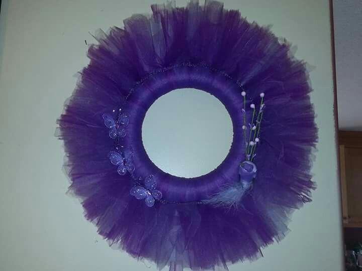 Pretty purple beautiful wreath.