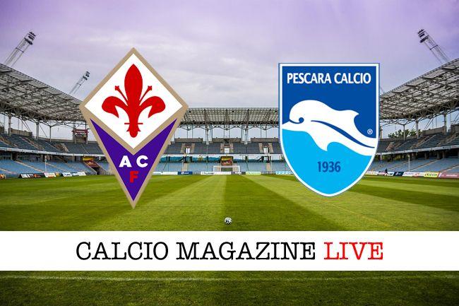 Fiorentina-Pescara risultato in diretta e tabellino in tempo reale